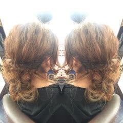 波ウェーブ ロング ヘアアレンジ ハイライト ヘアスタイルや髪型の写真・画像
