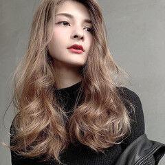 大人ヘアスタイル 大人かわいい ロング ゆる巻き ヘアスタイルや髪型の写真・画像