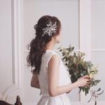 フェミニン ポニーテール 結婚式 花嫁