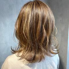 透明感カラー エレガント レイヤーボブ 外国人風カラー ヘアスタイルや髪型の写真・画像