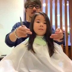 キッズカット  ガーリー 可愛い ヘアスタイルや髪型の写真・画像