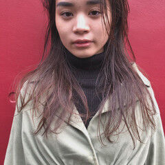 バレイヤージュ 質感カラー 外国人風 ナチュラル ヘアスタイルや髪型の写真・画像