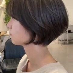 ショート ミニボブ ショートボブ ハンサムショート ヘアスタイルや髪型の写真・画像