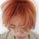 ショート ナチュラル アプリコットオレンジ オレンジブラウン
