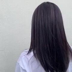 アッシュバイオレット バイオレットアッシュ ロング パープルアッシュ ヘアスタイルや髪型の写真・画像