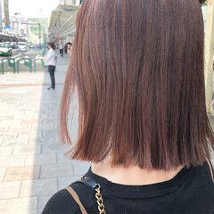 レッドブラウン チェリーレッド イルミナカラー ミディアム ヘアスタイルや髪型の写真・画像