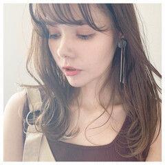 インナーカラー ニュアンスヘア 大人かわいい ロング ヘアスタイルや髪型の写真・画像