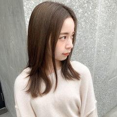 アンニュイほつれヘア ナチュラル 透明感カラー 大人かわいい ヘアスタイルや髪型の写真・画像