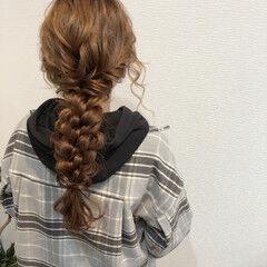 フェミニン ヘアセット りぼん ロング ヘアスタイルや髪型の写真・画像