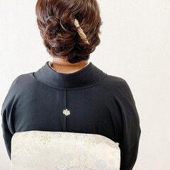 エレガント 着物 ヘアアレンジ 訪問着 ヘアスタイルや髪型の写真・画像