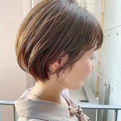 ナチュラル ショートボブ ショートヘア デート ヘアスタイルや髪型の写真・画像