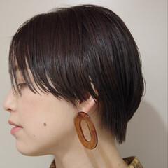 ナチュラル ショート インナーカラー ベリーショート ヘアスタイルや髪型の写真・画像