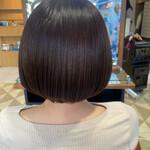 髪質改善 髪質改善トリートメント ボブ 地毛風カラー
