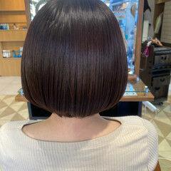 髪質改善 髪質改善トリートメント ボブ 地毛風カラー ヘアスタイルや髪型の写真・画像