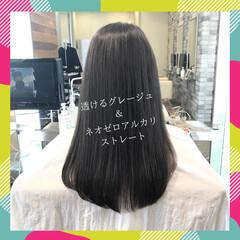 前髪 ストレート 縮毛矯正 髪質改善 ヘアスタイルや髪型の写真・画像