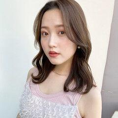 韓国 韓国ヘア アンニュイほつれヘア フェミニン ヘアスタイルや髪型の写真・画像