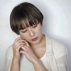 ショート ミニボブ モード N.オイル ヘアスタイルや髪型の写真・画像