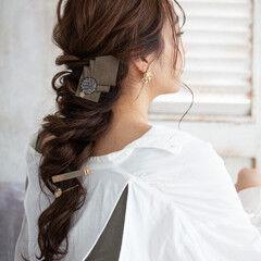 お呼ばれヘア ロング フェミニン 結婚式ヘアアレンジ ヘアスタイルや髪型の写真・画像