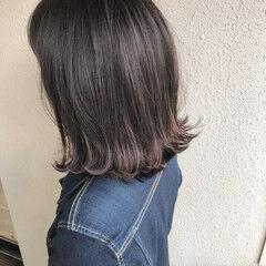 外ハネボブ ショートヘア モテボブ ミディアム ヘアスタイルや髪型の写真・画像