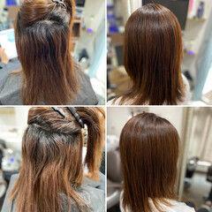 縮毛矯正 髪質改善カラー エレガント 髪質改善トリートメント ヘアスタイルや髪型の写真・画像