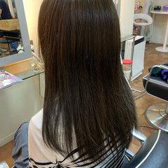 ロング 艶髪 秋ブラウン ナチュラル ヘアスタイルや髪型の写真・画像