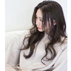 オフィス エレガント セミウェット 女っぽヘア ヘアスタイルや髪型の写真・画像