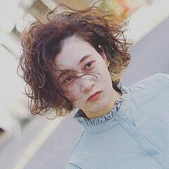 ストリート ショートボブ ボブ ウェーブ ヘアスタイルや髪型の写真・画像