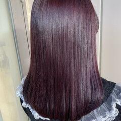 ヘアカラー ラベンダーグレージュ ガーリー 艶髪 ヘアスタイルや髪型の写真・画像