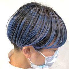 ストリート ショート ハイトーンカラー インナーカラー ヘアスタイルや髪型の写真・画像