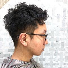 くせ毛風 ナチュラル メンズショート メンズヘア ヘアスタイルや髪型の写真・画像