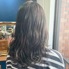 透明感カラー グレージュ ロング 地毛風カラー ヘアスタイルや髪型の写真・画像
