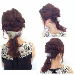 ヘアアレンジ ストリート ウェーブ 秋 ヘアスタイルや髪型の写真・画像