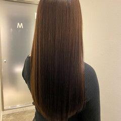 うる艶カラー 美髪矯正 ナチュラル 艶髪 ヘアスタイルや髪型の写真・画像