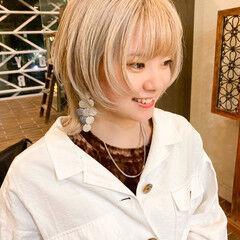 ウルフ女子 ボブ モード マッシュウルフ ヘアスタイルや髪型の写真・画像
