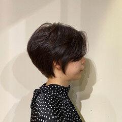 ハンサムショート 抜け感 ガーリー ハイライト ヘアスタイルや髪型の写真・画像