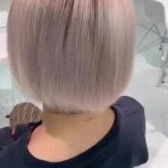 ストリート ホームケア ヘアケア ハイトーン ヘアスタイルや髪型の写真・画像