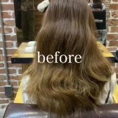 美髪 グレージュ ナチュラル ロング ヘアスタイルや髪型の写真・画像