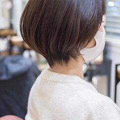 大人かわいい ショートボブ フェミニン ショートヘア ヘアスタイルや髪型の写真・画像