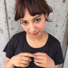 ミディアム 外国人風 簡単ヘアアレンジ ハイトーン ヘアスタイルや髪型の写真・画像