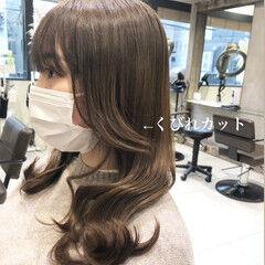 セミロング ヨシンモリ マット 韓国 ヘアスタイルや髪型の写真・画像