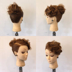 裏編み込み パーティ ヘアアレンジ 上品 ヘアスタイルや髪型の写真・画像
