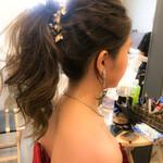 結婚式髪型 結婚式ヘアアレンジ 簡単ヘアアレンジ エレガント