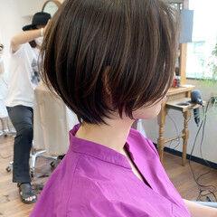 ショートヘア ショートボブ ナチュラル ベージュカラー ヘアスタイルや髪型の写真・画像