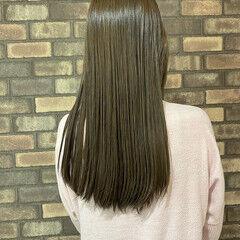透明感 スロウ ロング ナチュラル ヘアスタイルや髪型の写真・画像