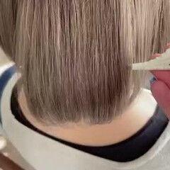 圧倒的透明感 ショート イルミナカラー ショートボブ ヘアスタイルや髪型の写真・画像