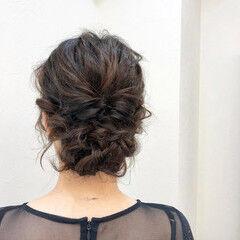 お呼ばれヘア 結婚式 結婚式アレンジ 結婚式ヘアアレンジ ヘアスタイルや髪型の写真・画像
