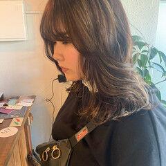 3Dハイライト ハイライト ホワイトハイライト 大人ハイライト ヘアスタイルや髪型の写真・画像