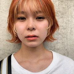 うぶ毛ハイライト ハイライト PEEK-A-BOO ガーリー ヘアスタイルや髪型の写真・画像