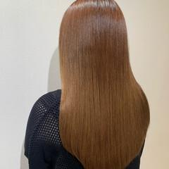 ブラウンベージュ ナチュラル ロング 髪質改善 ヘアスタイルや髪型の写真・画像