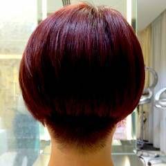 ハイトーン ショート モード レッド ヘアスタイルや髪型の写真・画像